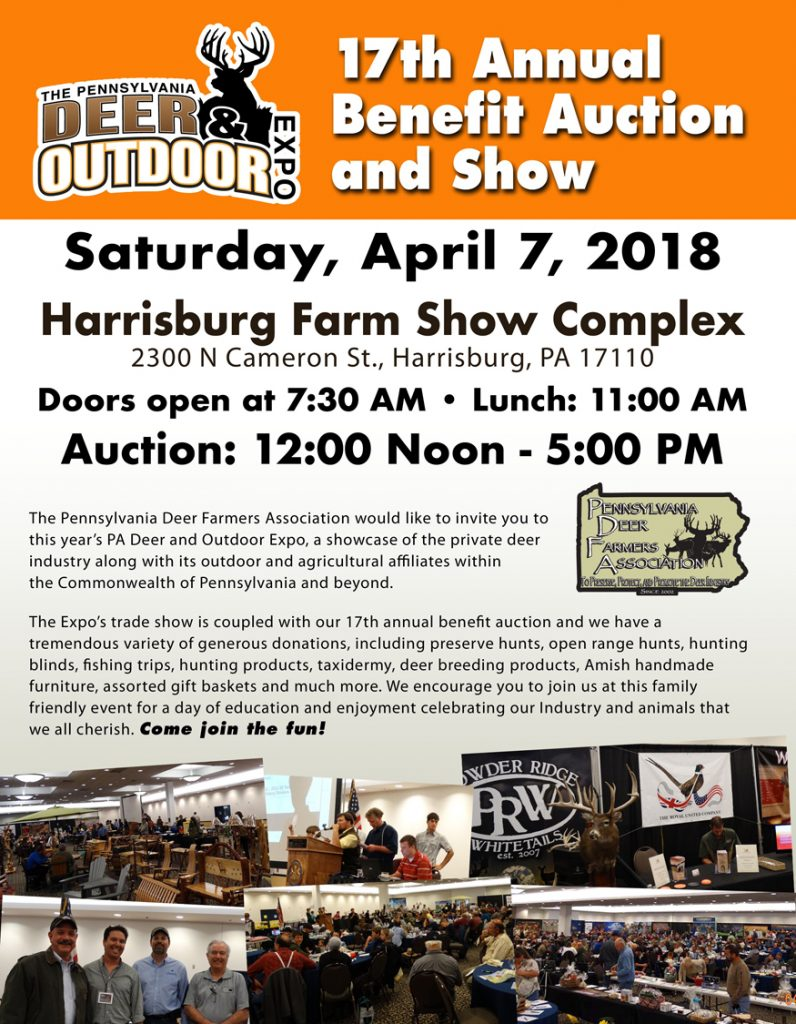 17th Annual Benefit Auction and Show | The Pennsylvania Deer